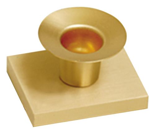 "Altar Candlestick   1 1/2""H   Solid Satin Brass"