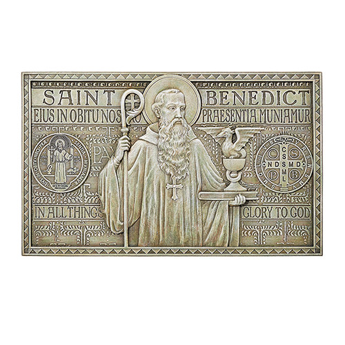 "12"" Saint Benedict Garden Plaque 