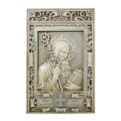 "15"" Saint Benedict Garden Plaque 