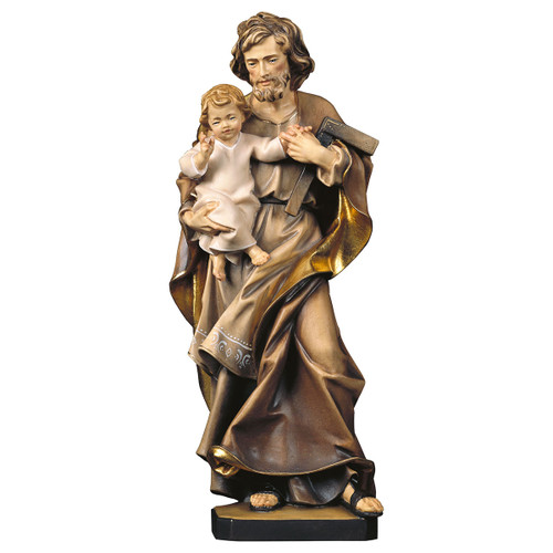 St. Joseph with Child Statue | Hand Carved in Italy | Multiple Sizes