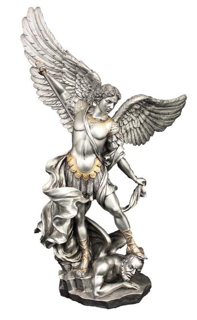 "14.5"" St. Michael Statue | Pewter Finish"