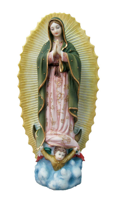"""9.5"""" Our Lady of Guadalupe Statue 