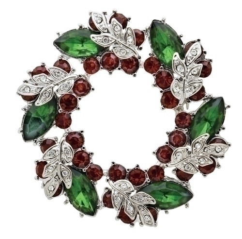 "2"" Christmas Wreath Story Pin"