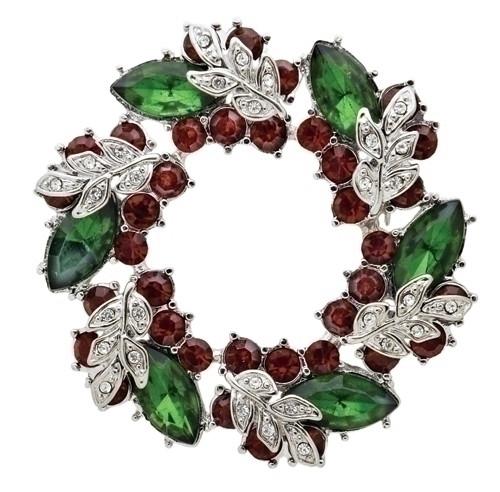 "2"" Christmas Wreath Story Pin"