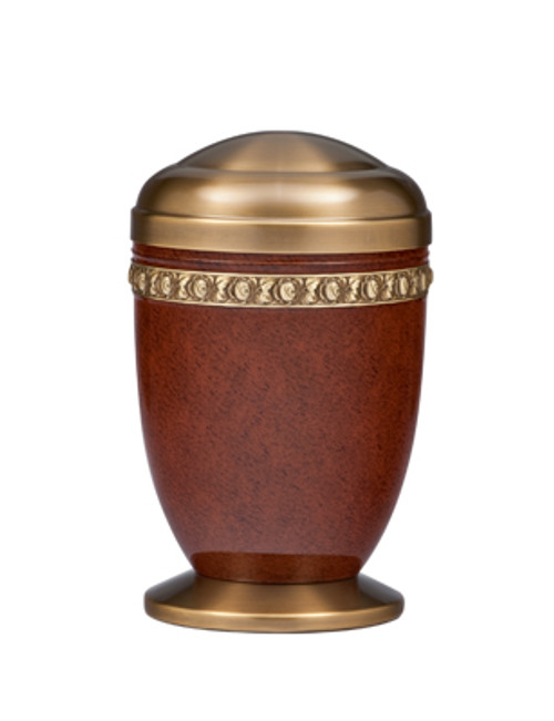 "11 3/4"" Memorial Urn | Aluminum/Brass"