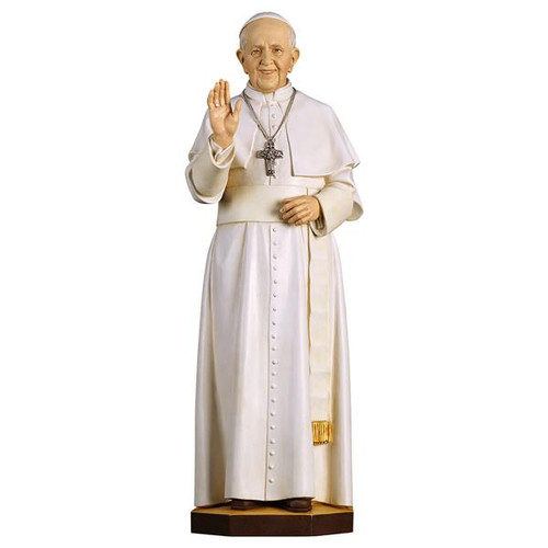 Pope Francis Statue | Hand Carved in Italy | Multiple Sizes
