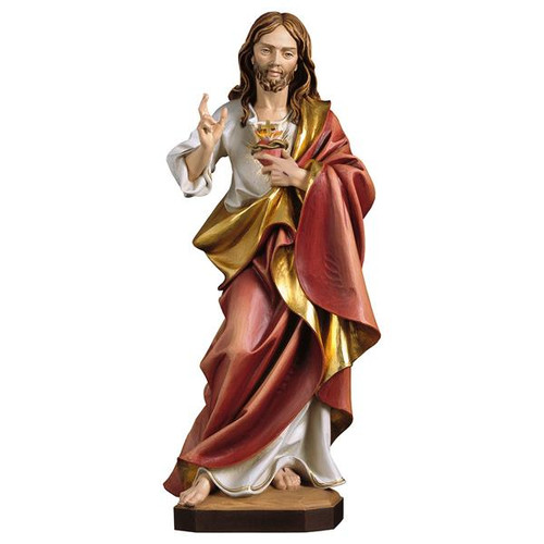 Sacred Heart of Jesus Statue | Hand Carved in Italy | Multiple Sizes