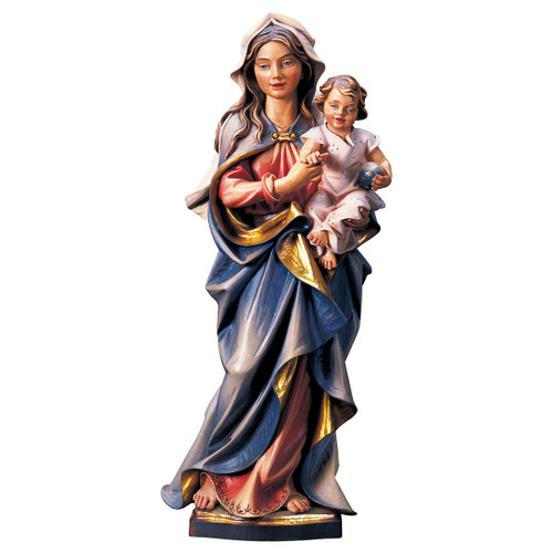 Our Lady of the Accompanist Statue | Hand Carved in Italy | Multiple Sizes