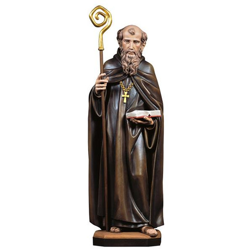 St. Benedict of Nursia Statue | Hand Carved In Italy | Multiple Sizes