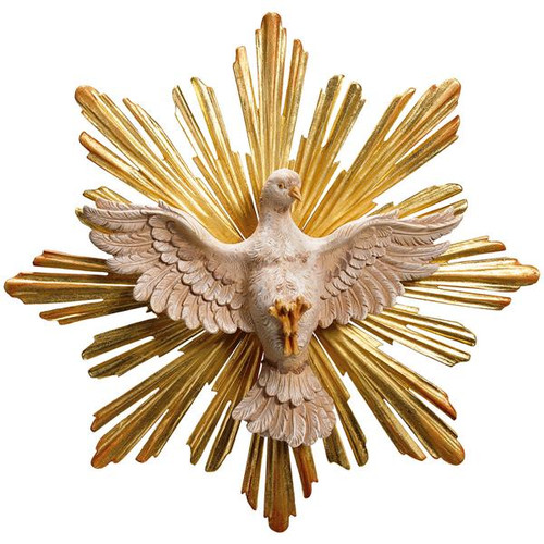 Holy Spirit with Halo Statue | Hand Carved in Italy | Multiple Sizes