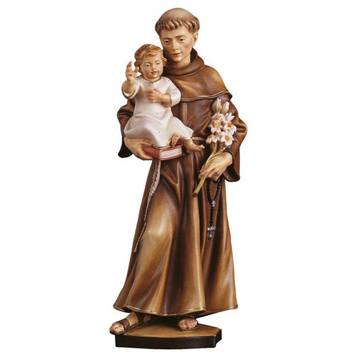 St. Anthony of Padua Statue | Hand Carved In Italy | Multiple Sizes