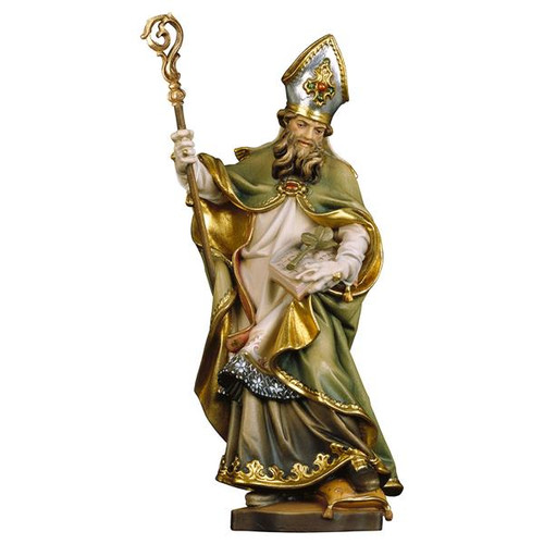 St. Patrick Statue | Hand Carved in Italy | Multiple Sizes