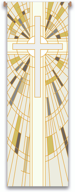 #7505 White Cross Banner