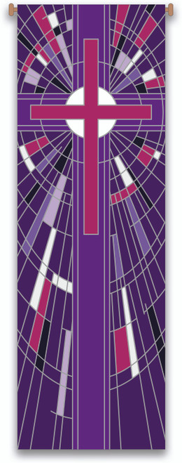 #7508 Purple Cross Banner