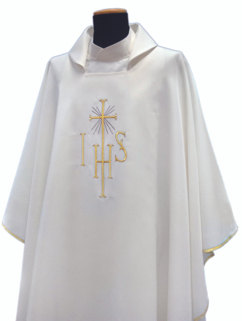 #220 IHS Chasuble | Square Collar | 100% Poly | All Colors | Buy 4 Get 1 Free!