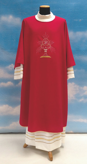 #333 Lightweight Embroidered Eucharist Dalmatic | 100% Micro Poly | All Colors