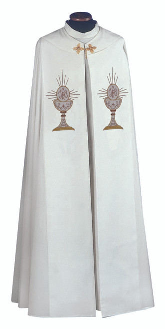 #333 Lightweight Embroidered Eucharist Cope | 100% Micro Poly
