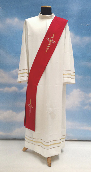 #334 Lightweight Cross Deacon Stole | 100% Micro Poly | All Colors