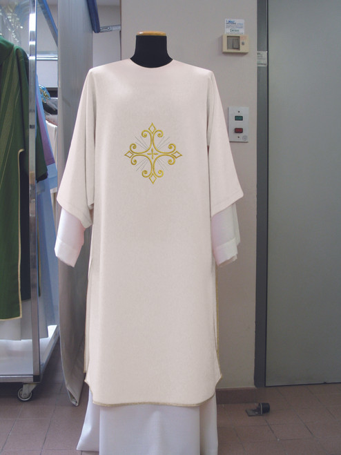 #351 Embroidered Dalmatic | Square Collar | 100% Poly | All Colors