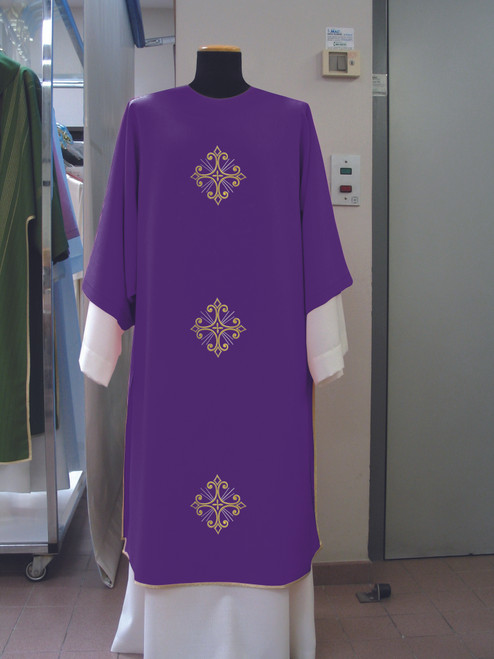 #650 Dalmatic | Square Collar | 100% Poly | All Colors