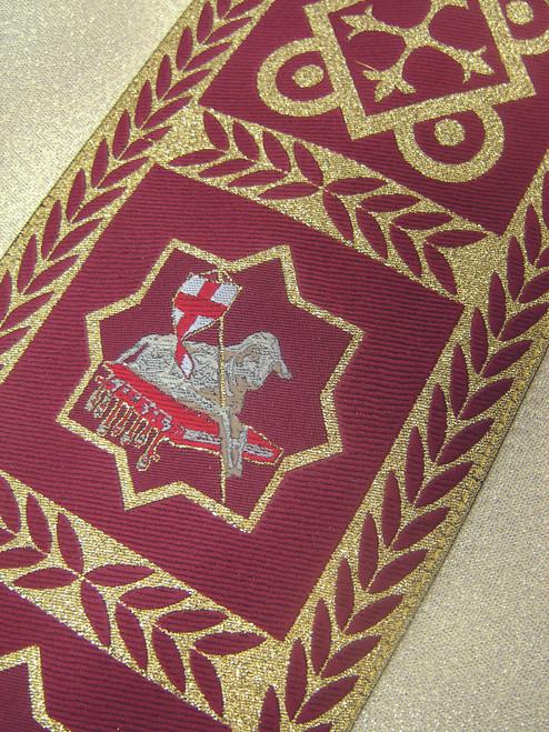 #485 Red Band Alb | Shoulder Zipper Closure | Poly/Cotton