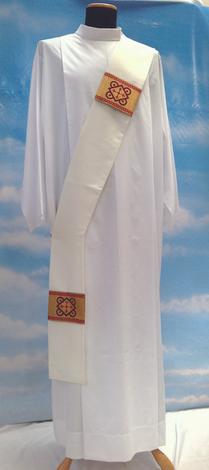 #486 Gold-Banded Deacon Stole | 100% Poly