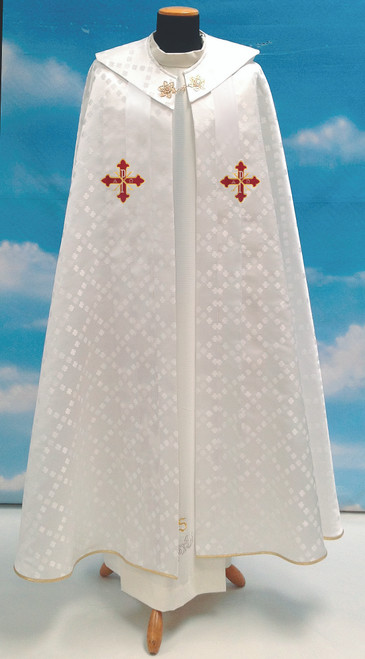 #649 Chi Rho Cope | 100% Polyester Damask