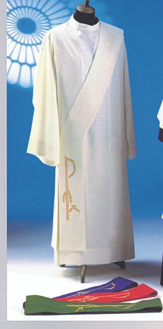 #1356 Contemporary Chi Rho Deacon Stole | 100% Poly | All Colors