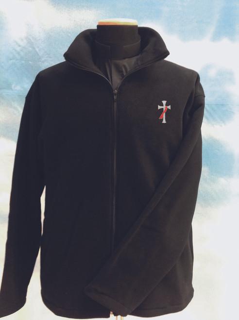 Embroidered Deacon Cross Fleece Jacket | 100% Polyester