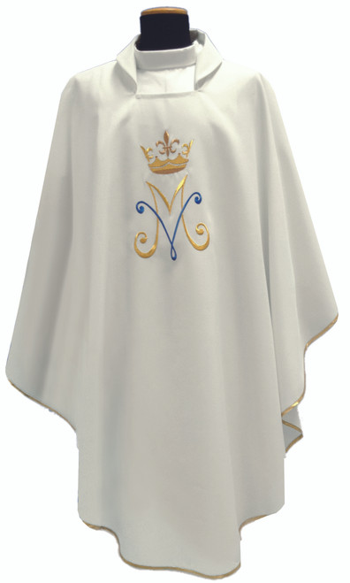 #345 Marian Chasuble | Square Collar | 100% Poly