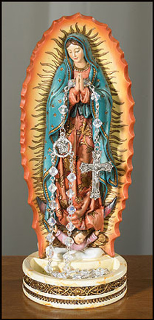 """8"""" Our Lady of Guadalupe Rosary Holder 
