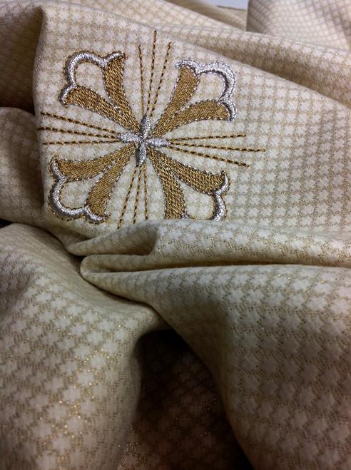 #625 Fleury Cross Dalmatic | Pure Wool/Gold Thread | All Colors