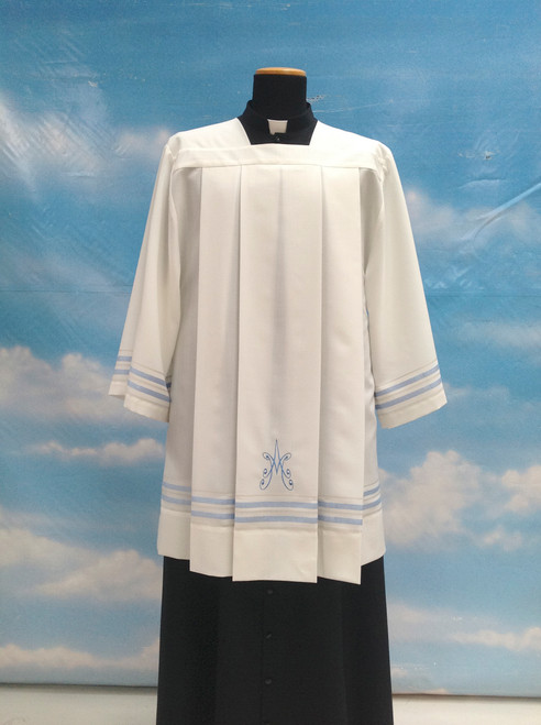 #9774 Embroidered Marian Surplice | Mixed Wool