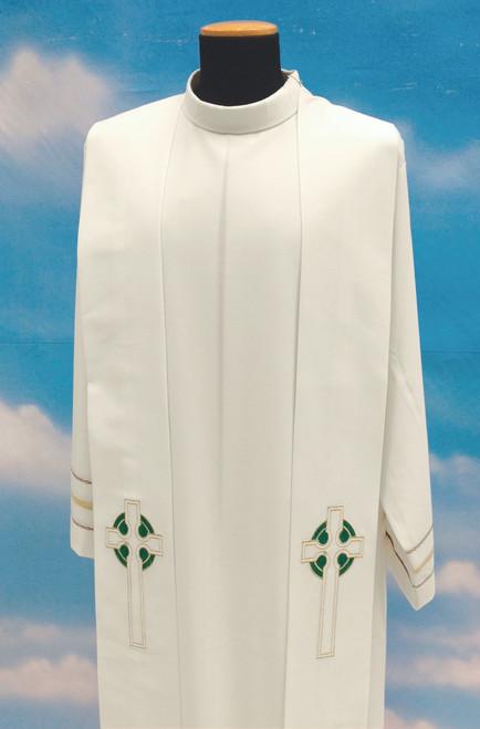 #347 Celtic Cross Overlay Stole | 100% Poly