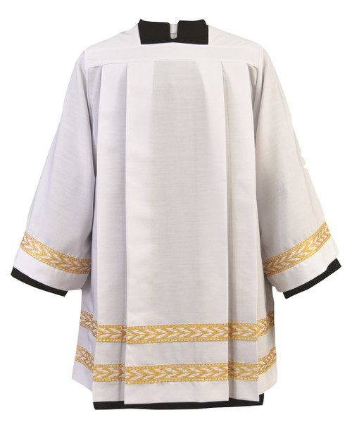 #4341 Embroidered Gold Bands Surplice | Poly/Wool
