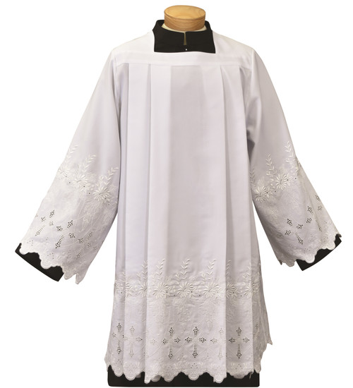 #1899 Washable Embroidered Cross Surplice | Polyester