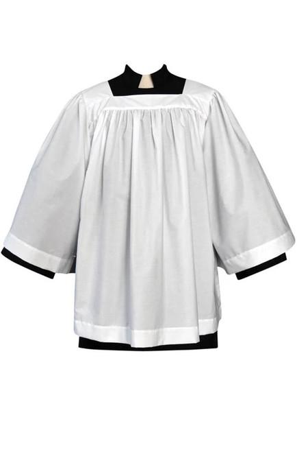 #179 Altar Server Square Neck Surplice | Poly/Cotton