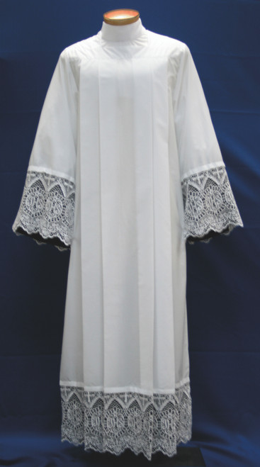 #4217 IHS Lace Insertion Alb with Lining | Poly/Cotton