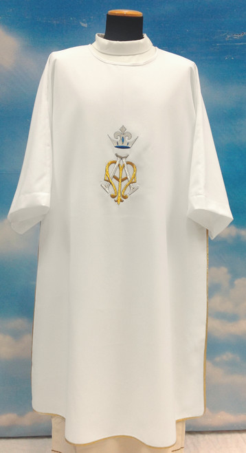 #514 Marian Symbol with Crown Dalmatic | 100% Poly
