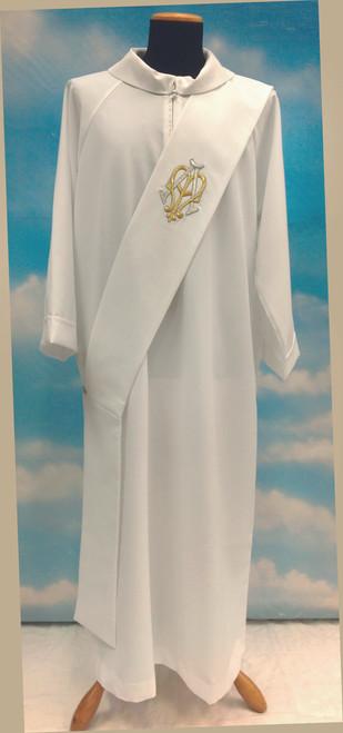 #514 Marian Symbol Deacon Stole   100% Poly