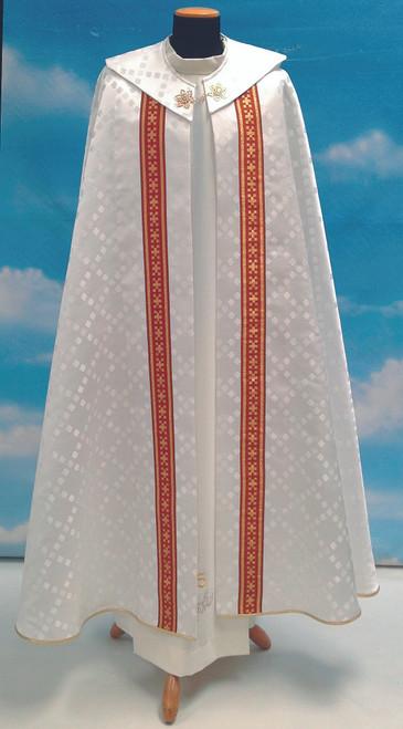 #497 Banded Cope | 100% Polyester Damask