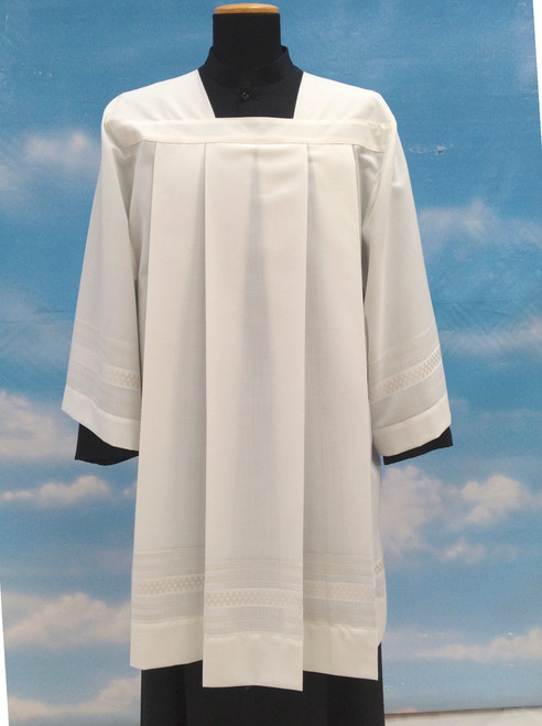#9772 Embroidered Surplice | Mixed Wool