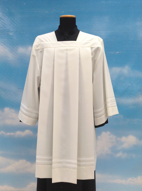 #9773 Embroidered Surplice | Mixed Wool