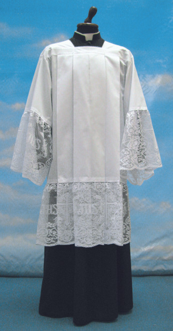 #955 IHS Lace Surplice | Mixed Cotton