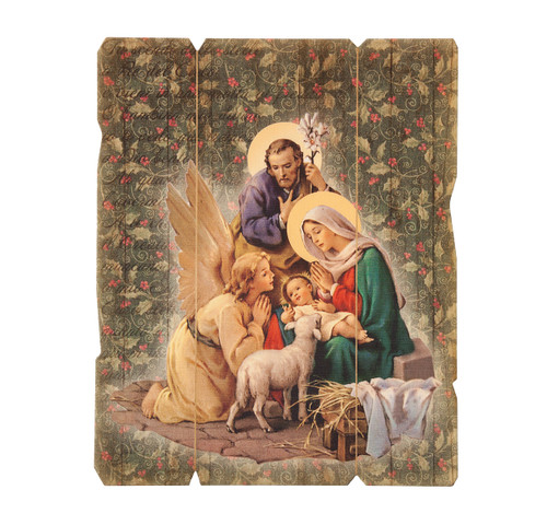 Holy Family and Angel Wall Plaque