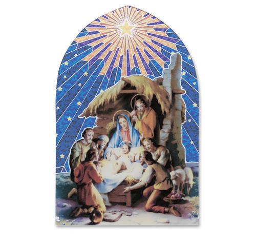 Christmas Nativity Manger Scene Mosaic Arch