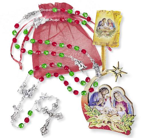 Christmas Rosary Gift Set