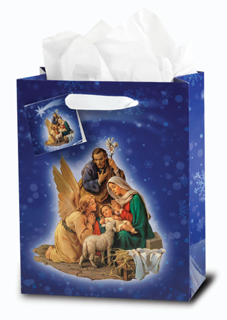 Holy Family with Angel Medium Gift Bag