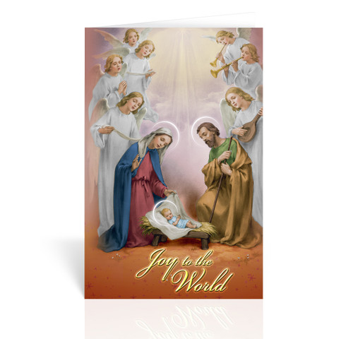 Holy Family with Angels Christmas Cards | Box of 10