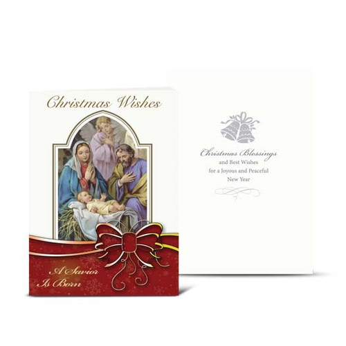 Nativity Christmas Wishes Christmas Cards | Box of 10